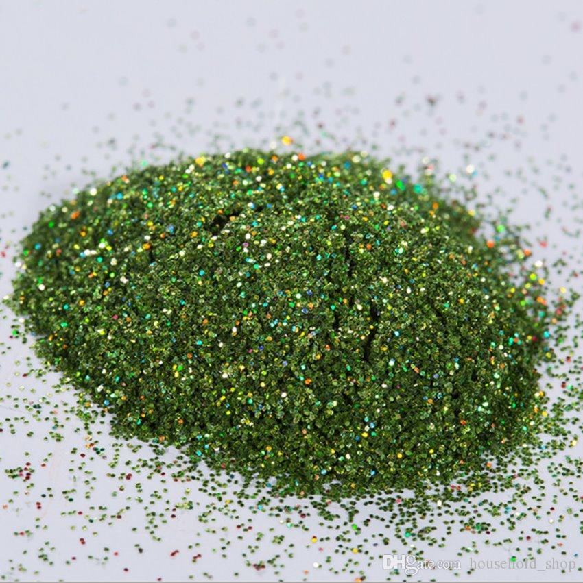 Holographic Glitter Poliéster 1/96 1/128 faísca Glitter grosso granel Artes unhas DIY e Ferramentas Artesanato A02