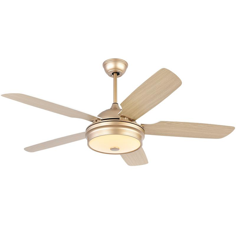 Nordic Ceiling Fan Lamp Dining Room Living Room Household Light With Electric Fan Solid Wood Silent Remote Control Fan Lamp