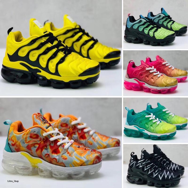 Nike Air TN Plus 2020 Baby-Kind-Turnschuhe Laufende TN Schuhe Kinder Sportschuhe Slip-On-Jungen-Mädchen-Trainings-Spo Turnschuhe Schuh-Größe US-11C-3J