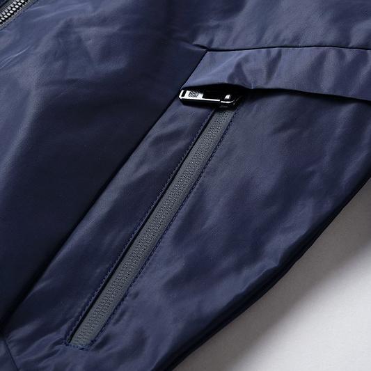 2019 nova marca de alta moda mens designer de cor pura jaquetas de manga longa com zíper fomal maduro bussiness casacos outerwear top quality b100236v
