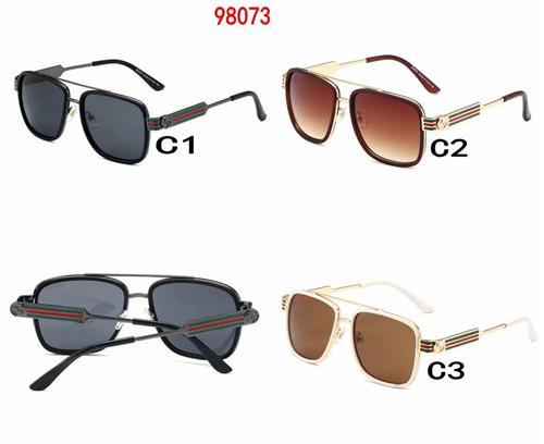 New luxury men's designer metallic retro sunglasses fashion brand style square frameless UV 400 lens with original frame