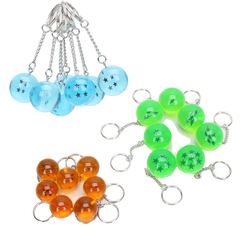 7pcs/set 2.5cm Dragon Ball Z New In Bag 7 Stars Balls PVC Figures Toys Keychain Pendant 1 2 3 4 5 6 7 star Complete set Y190529