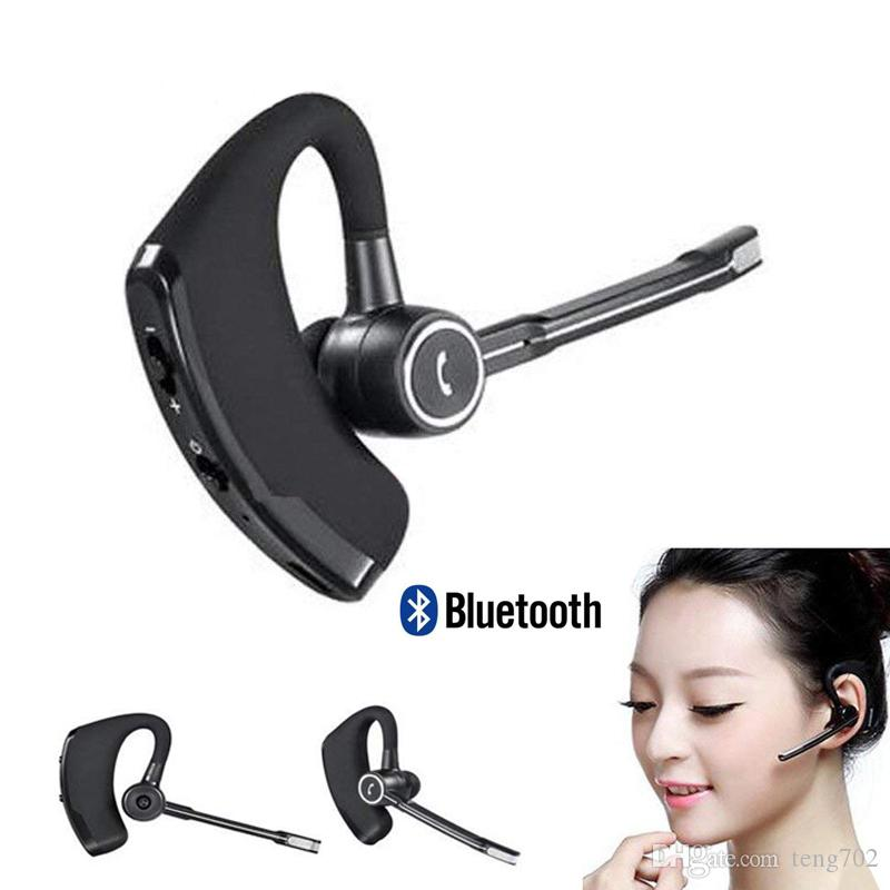 Bluetooth Headphone V8s Business Headset Wireless Earphone Car V4 1 Cell Phone Handsfree Mic Music Earbuds For Iphone X Xs Xiaomi Samsung S9 Bluetooth Headphones For Cell Phones Headsets For Cell Phones From