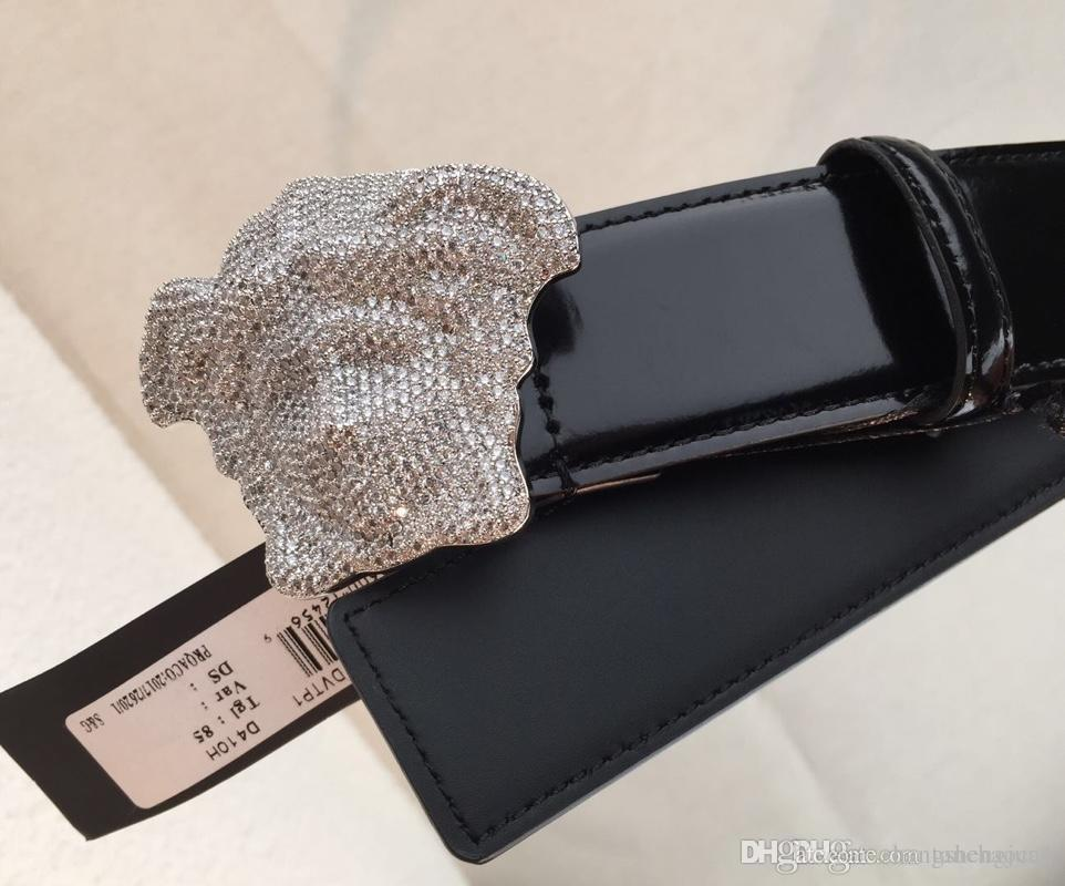 2019 Famous designer fashion classic belt brand men and women high-quality luxury full of star button belt