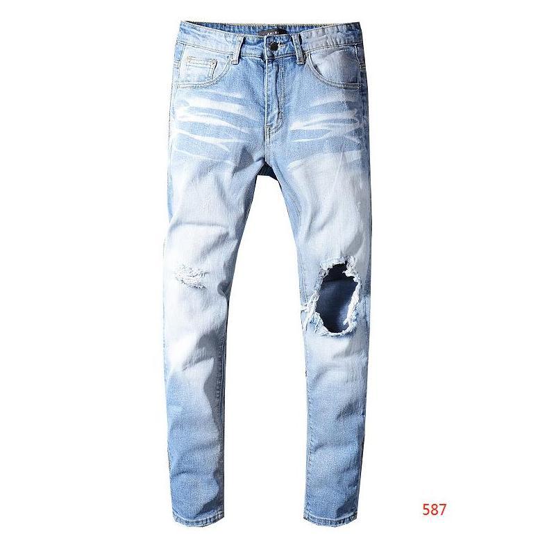 2020 Designer Jeans Mens Jeans Angustiado Motoqueiro Rasgado Jeans Slim Fit Mens Jeans Luxuoso Jeans Jeans Denim Nova Marca Moda Streetwear Designer Calças