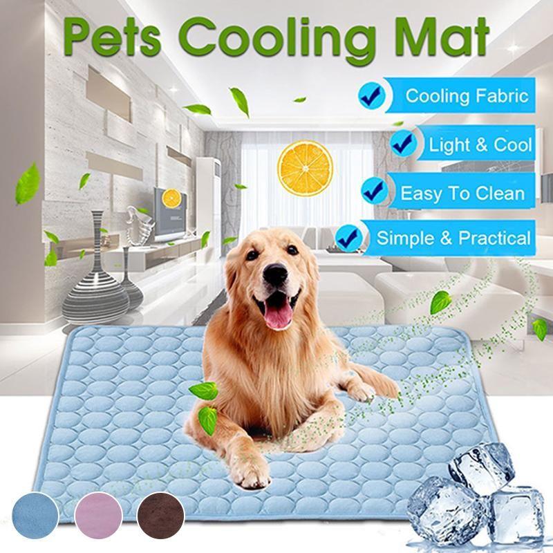 Chien Tapis de refroidissement d'été tapis de tapis pour chiens Cat Blanket Canapé Respirant chien Lit d'été pour Lavable Petit Moyen Grand Chiens Voiture