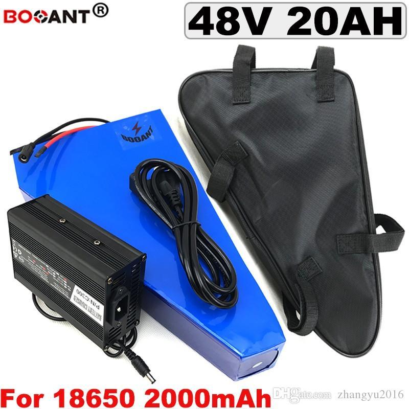 48 v BBSHD 20AH deniz mili bateria De Lítio para Bafang 500 w 1000 w Motor + Carregador + sa Saco 5A 13 s 48 v bicicleta Elétrica da bateria