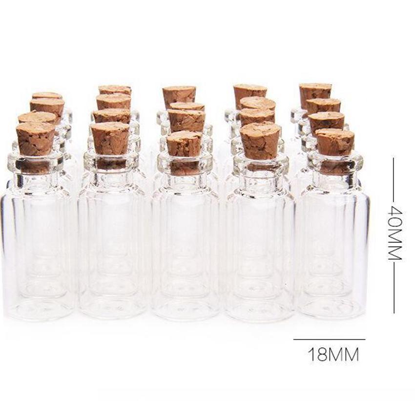 5ml sughero bottiglie di legno Mini Mini vetro di vetro vuote Vasi contenitori a bottiglia Vasi Pendenti Artigianato Drift bottiglia di profumo KKA7803