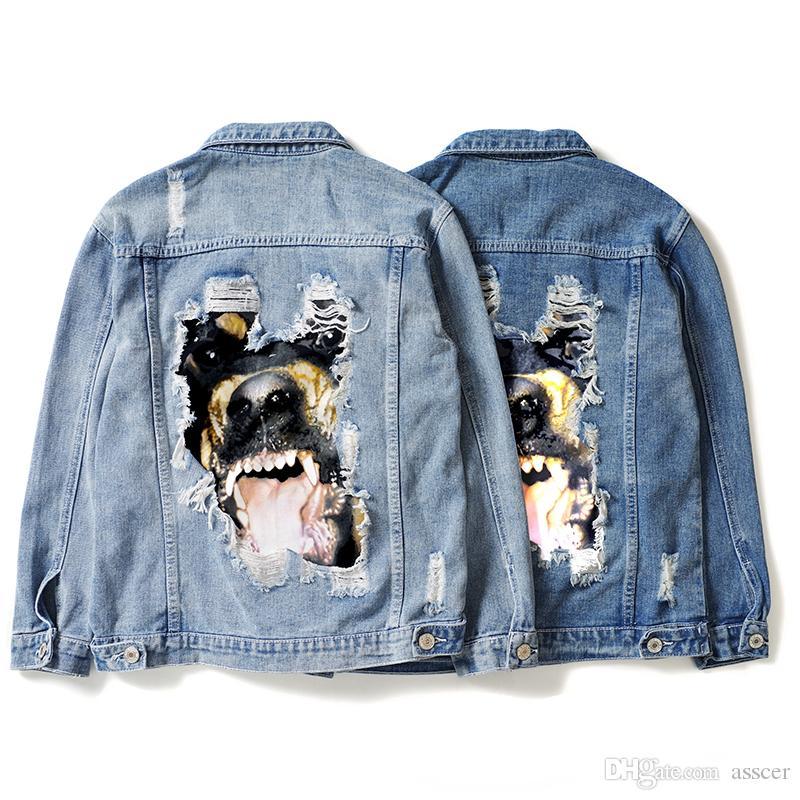 Lüks Erkek Tasarımcı Ceket Moda Marka Yüksek Kaliteli Tasarımcı Denim Ceket Erkek Kadın Ceket Hip Hop Uzun Kollu
