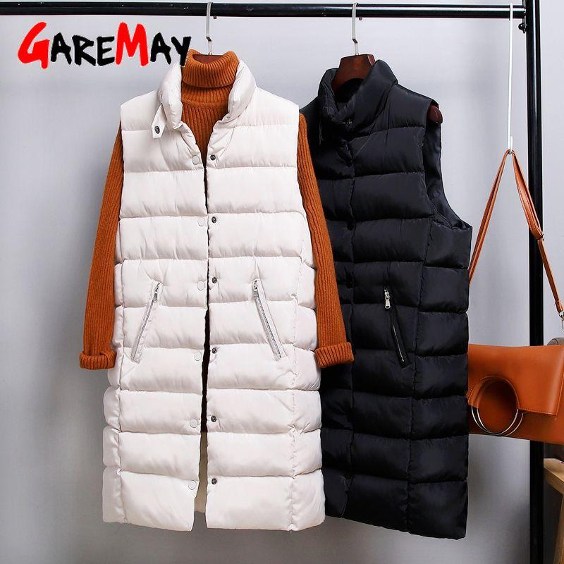 GareMay2019 الخريف الشتاء القطن الصدرية السيدات عارضة صدرية أنثى أكمام طويلة السترة سترة صالح سليم الدافئة معطف بسيط