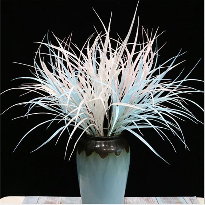 Reed Yapay Çiçekler Çim Kırsal Stil Düğün Dekorasyon Plastik Gerçekçi Çiçek Duvar Düğün Aile Partisi Dekorasyon