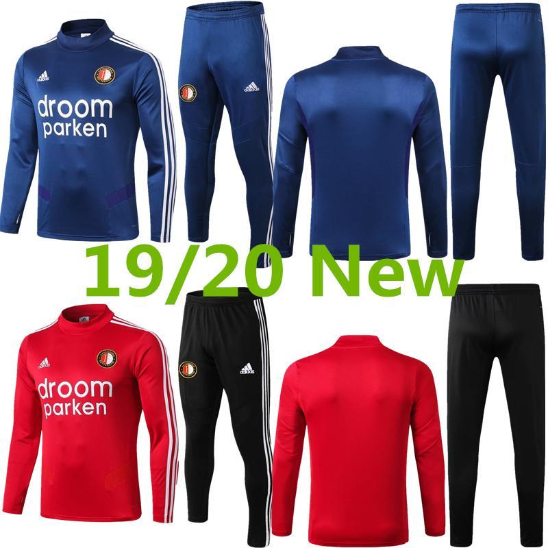 2019/20 Feyenoord Calcio kit van Beek pre-partita tute da calcio maglie Boezio manica lunga Vilhena Berghuis formazione shirt Un