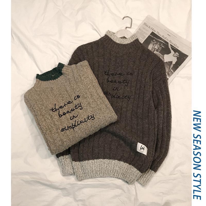 2019 neue Herbst-Mode-Marke beiläufige Strickjacke O-Ansatz Slim Fit Knitting Männer Pullover und Pullover Männer Pullover Männer XXXL