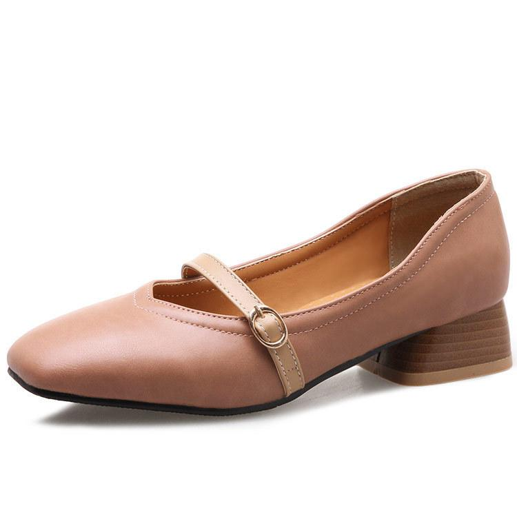 Sexy2019 Women's Fund Will Code Mary Jane Shoes 40414243444546 Spelling Color Low With Single Shoe 18-3
