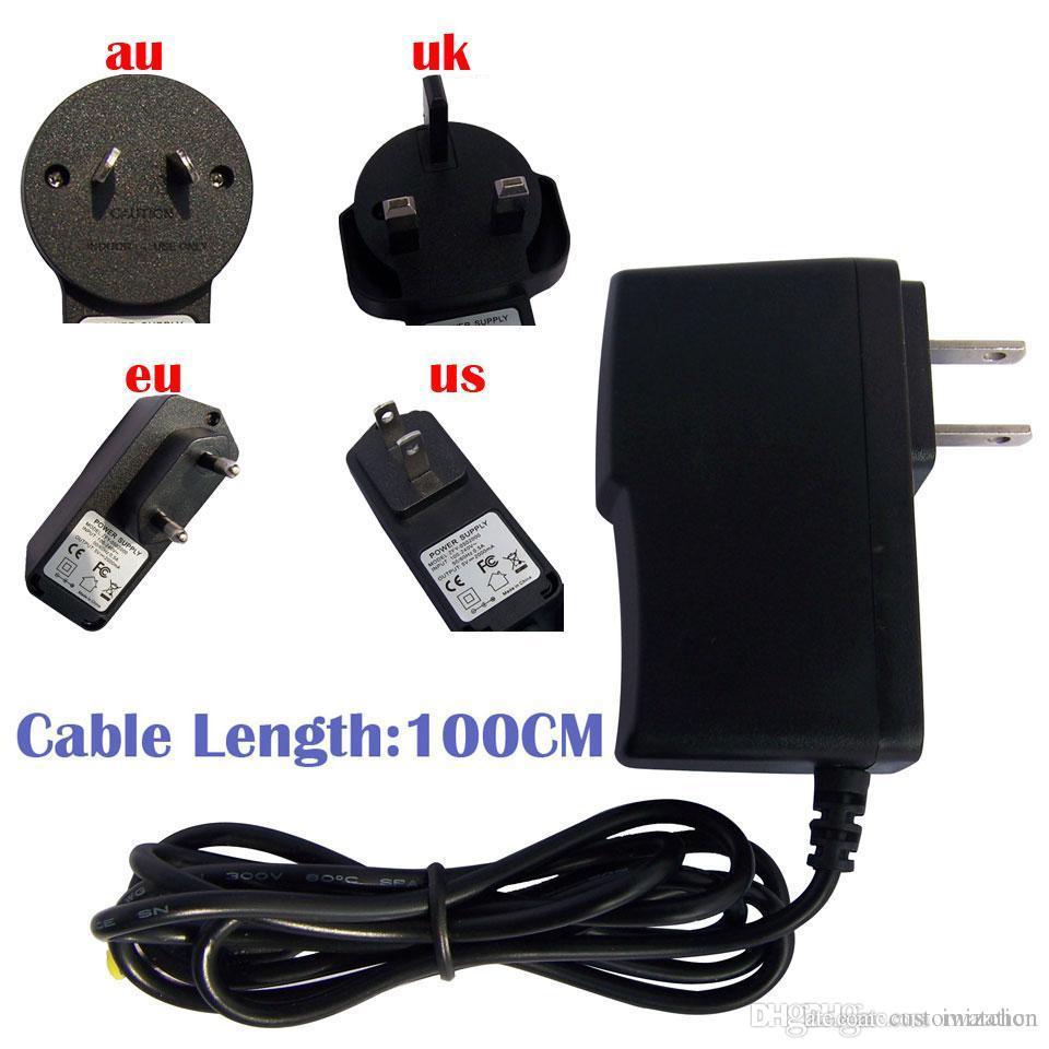 100PCS 어댑터 DC 충전기 5V 2,000mA 범용 안드로이드 TV 박스 셋톱 박스 Amlogic S905x S912 S905W에 대한 100-240V 50 / 60Hz의의 0.5A