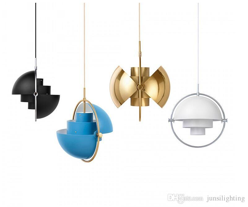 Designer post-modern bar pendant light restaurant study bedroom bedside creative personality semi-circular Pendant Lamp gold black