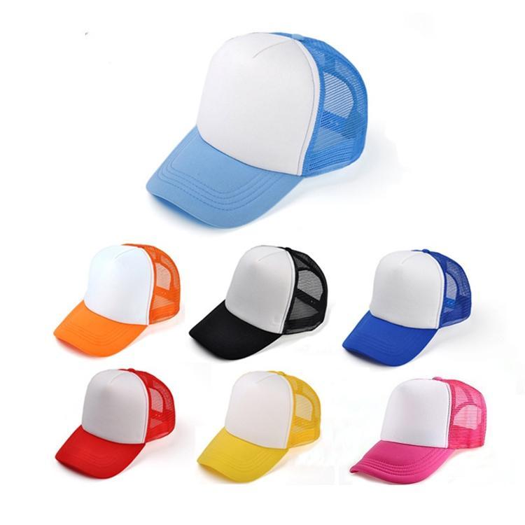 어린이 트럭 모자 성인 메쉬 캡 빈 트럭 모자 Snapback 모자 아이 크기 52-55cm 성인 크기 56-60cm Acept 사용자 정의 만든 로고 -P