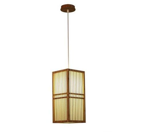 Japan Style Bamboo Pendant Lamp Handmade Wood Lantern Restaurant Bar Cafe Bistro Hotel Teahouse Bedroom Suspension Hanging Light LLFA