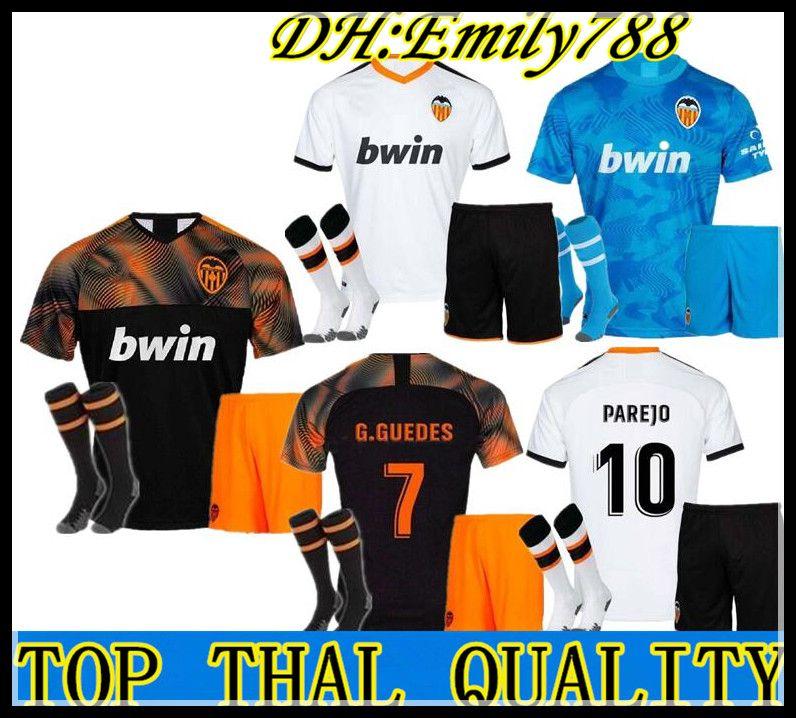 Camisa 2019 2020 camiseta de fútbol PAREJO G.GUEDES GAYA MINA RODRIGO Vietto 19 20 Blanco Azul de oro Gameiro Maillot adulto kit de Fútbol