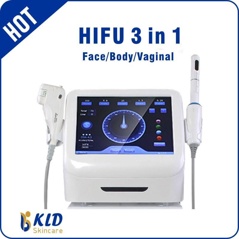 HIFU 3 في 1 الوجه رفع المهبل تشديد آلة HIFU آلة سبا استخدام مزدوج الذقن إزالة HIFU العلاج مصنع بيع