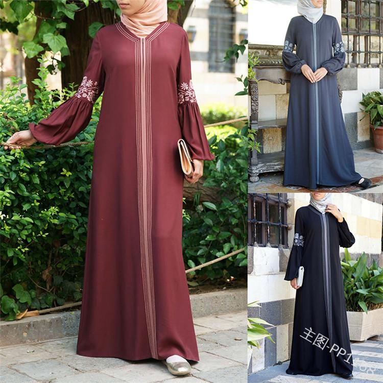 Dubai Abaya türkisch bangladesh Frau Abaya jilbab femme musulman Moslemkleid islamische Kleidung Kaftan marocain Kaftan
