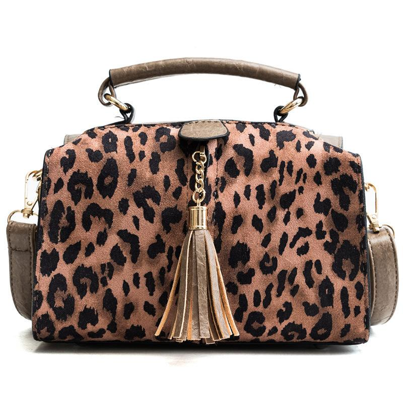 Pop2019 Small Portable Bag Woman All-match Tide Leopard Print Single Shoulder Ins Oblique Satchel Chic Pillow Package