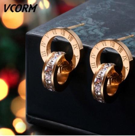 2019 classic grife pérola queda balançar letras ouvido de clipes dupla brincos camada accesy presente baile do casamento jóias brinco fashedb0 #