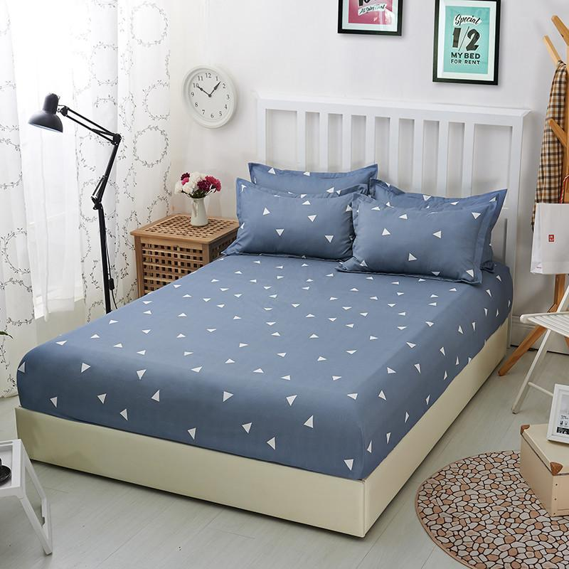 2020 Cotton Fitted Sheet Twin Double King Size Bed Sheet With
