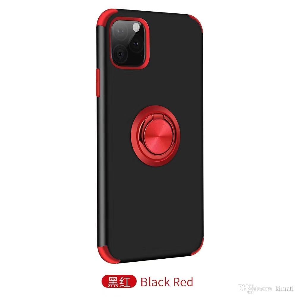 Tocca silice PC Gell Interna integrata Assorbimento magnetica coperchio di protezione Kickstand Staffa per iPhone 6 7 8 11 6p 11Pro
