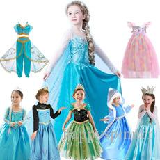 Saia das crianças dos desenhos animados vestido de impressão meninas meninas lantejoulas vestido de princesa manto longo trajes infantis
