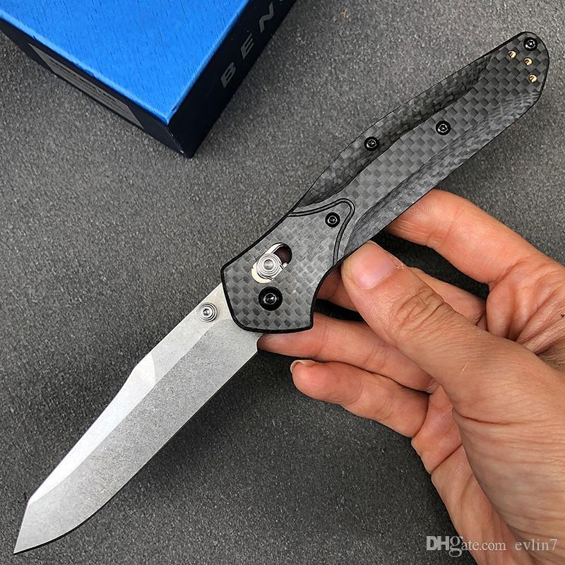 New Arrival Buttefly 940 Folding Knife D2 Stone Wash Blade Carbon Fiber Handle EDC Pocket Knives