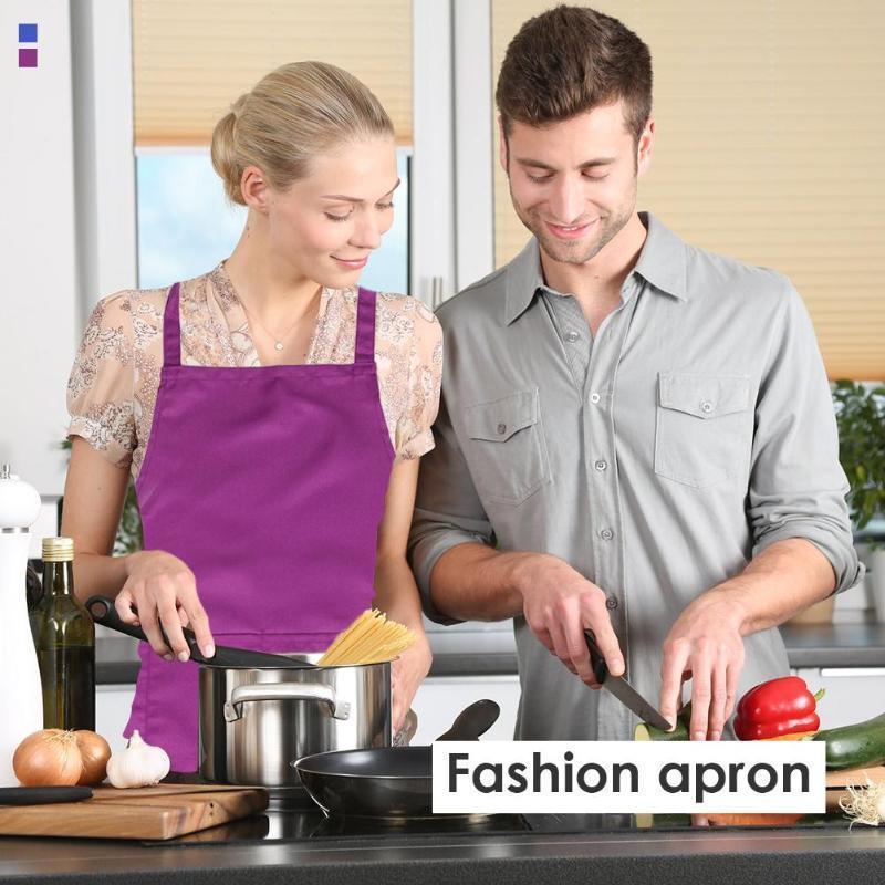 Tablier de cuisine réglable pour femmes, bavoir imperméable de couleur pure pour la cuisson 33 #