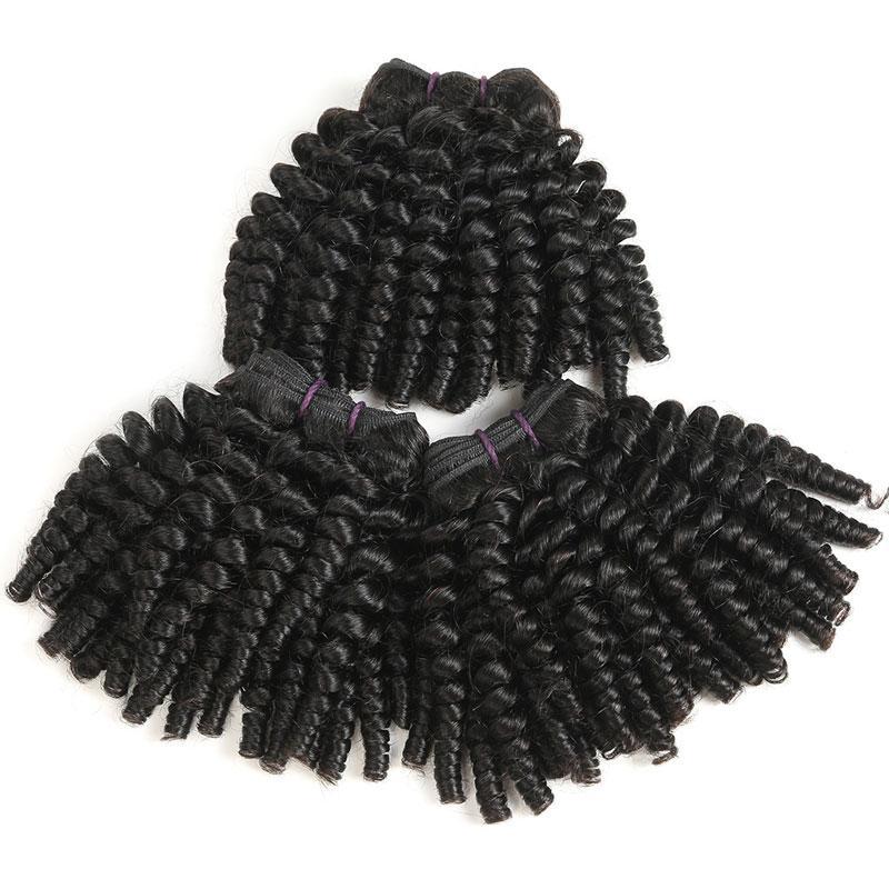 Kinky Short Funmi Human Hair Bundles Afro Kinky Curly Hair Weave 100% Unprocessed 9A Peruvian Virgin Hair Extensions 3 Bundles Deal Bob