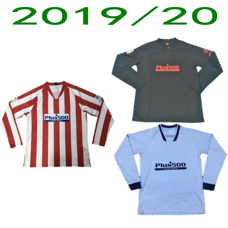 2019/20 Madrid de manga larga camiseta de fútbol 2020 JOAO FELIX KOKE SAÚL casa Fuera Uniforme Camisa para hombre LEMAR CORREA Tercera manga llena de fútbol