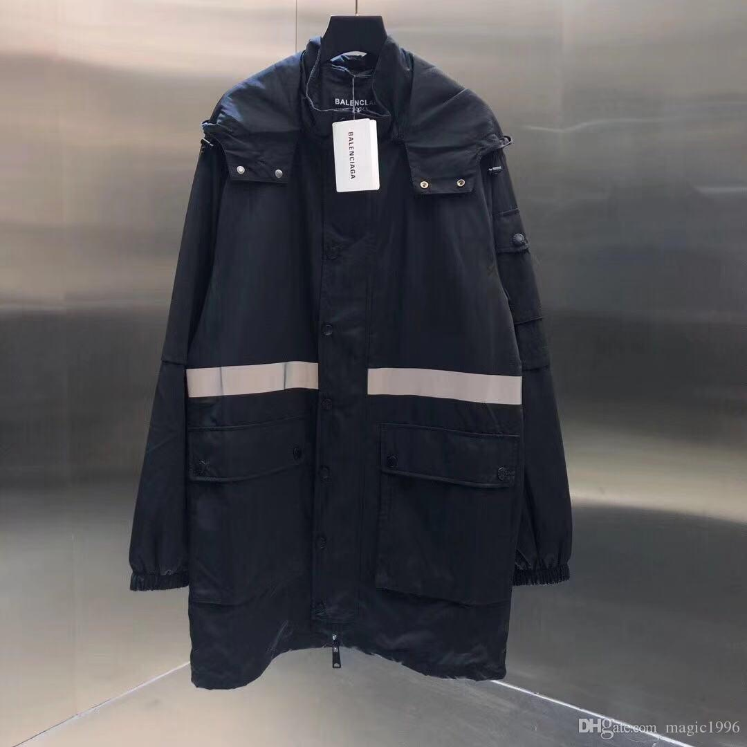 blusão cor de letra da cópia 2019 homens designer de moda malha interna com zíper casaco de Rua