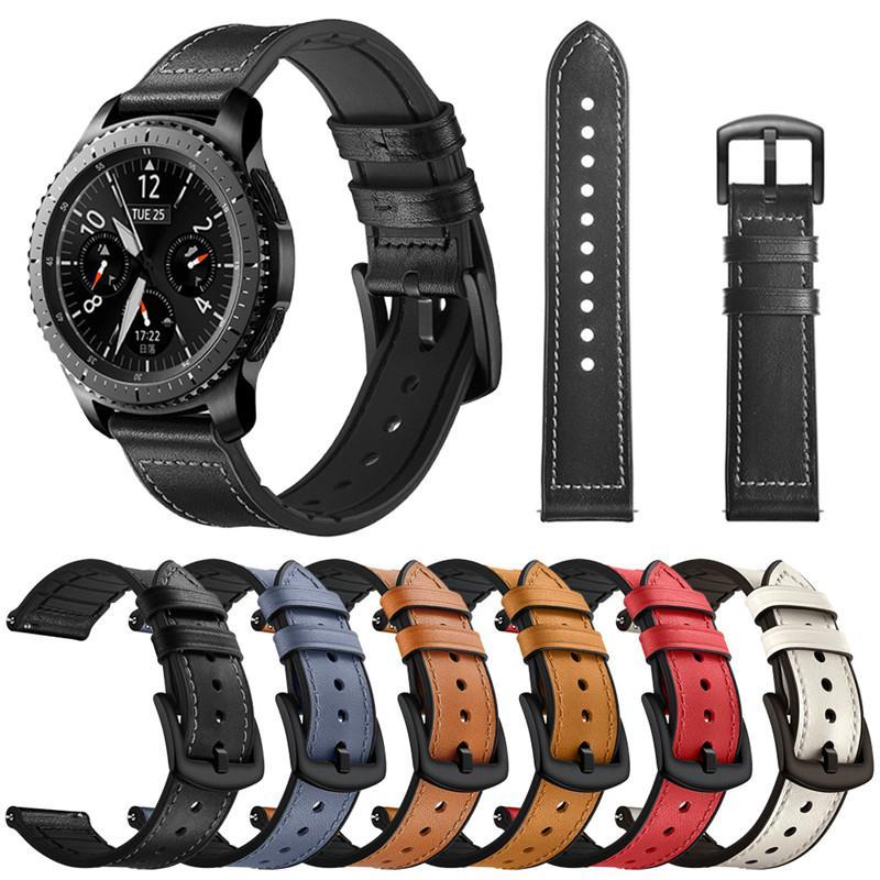 20mm 22mm reloj de la correa de la galaxia de Samsung activo 40 44 42 mm 46 mm Utillaje deportivo S2 S3 Classic Band Huami amazfit GTR Bip Huawei