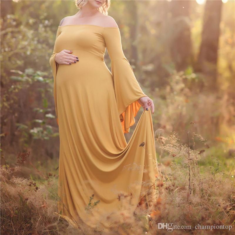 Artı boyutu Katı Bayan Elbise Boyun 5XL Gevşek Hamile Kadın Elbise Şık Bayan Giyim Slash