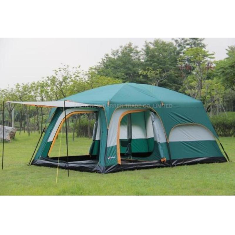 1pcs Ultralarge 6 10 12 doble capa exterior 2 salas de estar de la familia sala de tienda de campaña