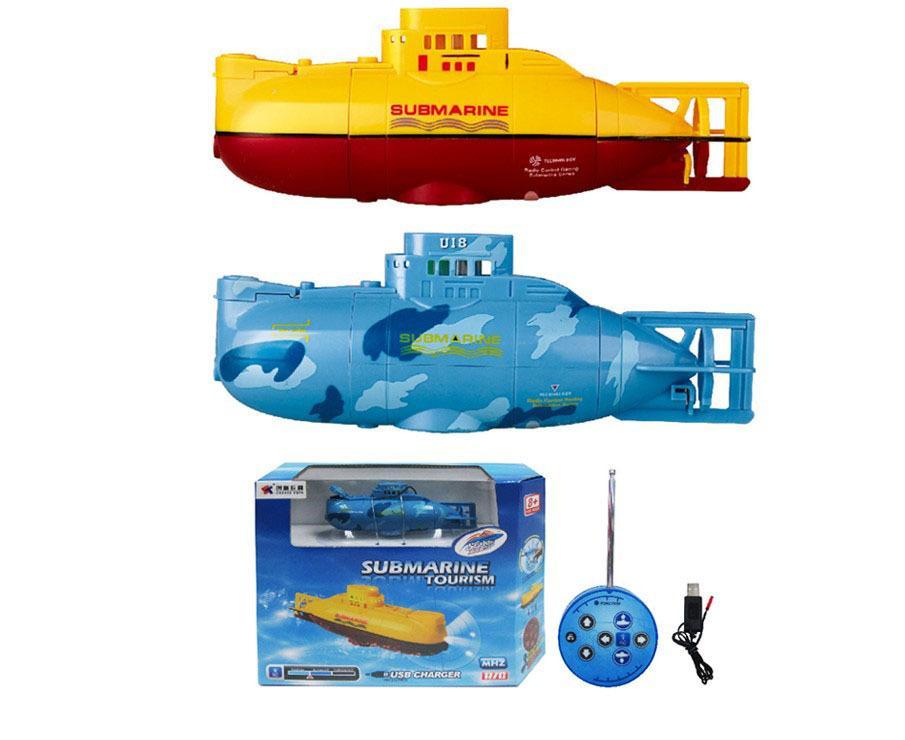 2017 Nova moda RC Submarine Brinquedos Outdoor 3311 6CH elétrica de alta velocidade de recarga Mini RC Water Boat modelo de brinquedo crianças VS HQ958