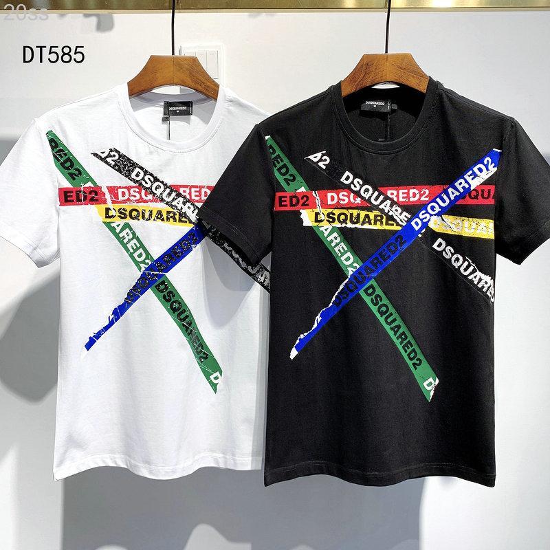 20ss رمز ديسكو الشرير طباعة T-SHIRT الرجال قمصان الشارع الشهير الرجال النساء السراويل تي شيرت المتناثرة بلايز قصيرة المحملة الملابس DT585