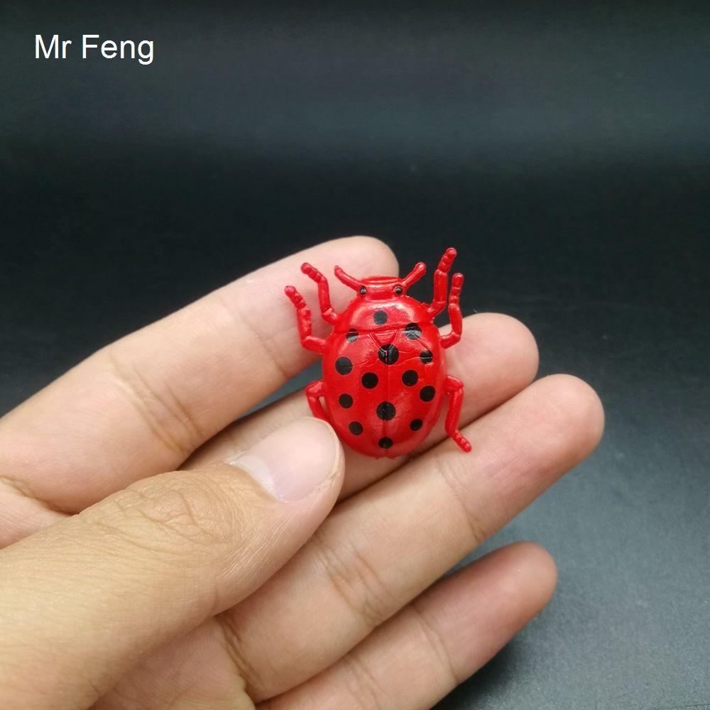 Red Mini Beetle Shocker Witz Modell Kunststoff Tier Lernspielzeug Lernspiel Gehirn (Modellnummer I791)
