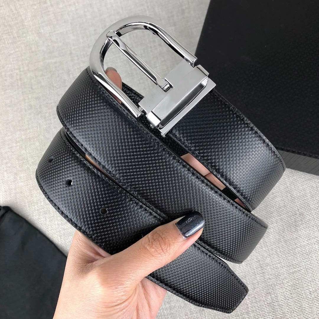 Nuevas Cinturones de Moda para Hombres Mujer Casual Aguja Hebilla 4 Ancho de color 34mm Altamente Calidad con Caja