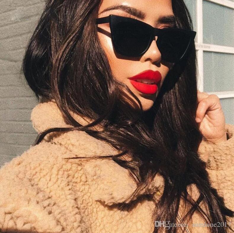 Australien Frauen Weibliche Katze Mode Sonnenbrille Cateye 90er Jahre Vintage Designer Luxus 2018 Stil Sonnenbrille Augen Dame Shades FXDQA
