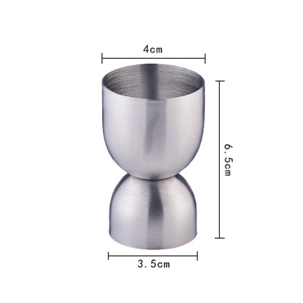 20 / 40ml Spirito Bartender Jigger Cocktail barra degli strumenti in acciaio inox 201 della Bell di misura tazza di bevanda doppio-end
