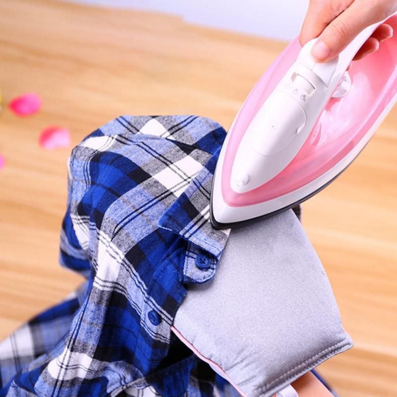Titular de planchado Mini Pad tabla de planchar manga de mano del guante resistente al calor para la ropa vaporizador Portabe mesa de hierro en rack
