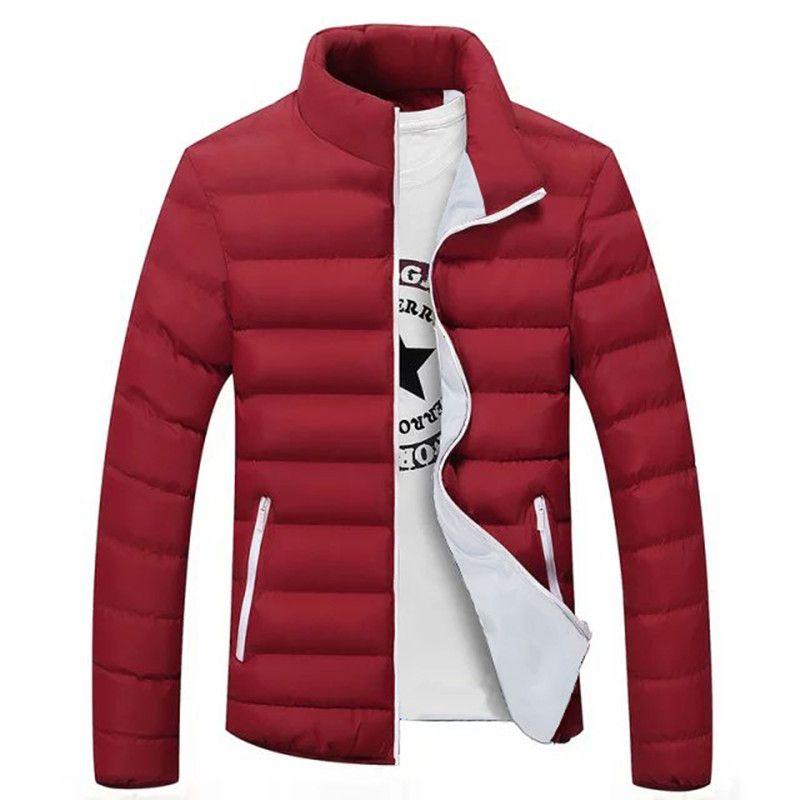 Мужские куртки 2021 Мужская Зимняя Парки Куртка Мужчины Мода Пальто Тонкие Качество Повседневная Ветровка Теплый 4XL 5XL 6XL