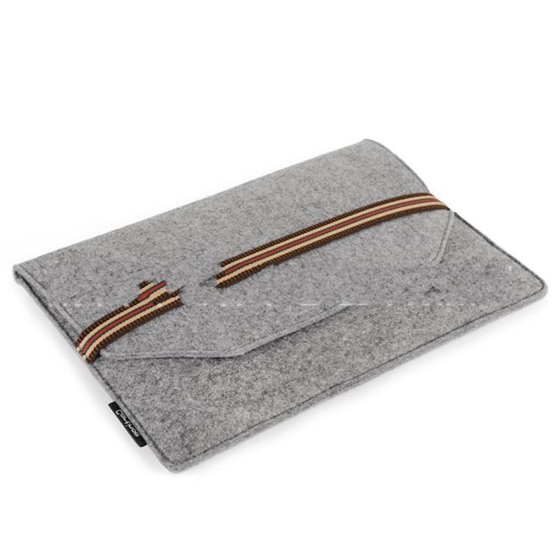 Sentiu Notebook Saco de Computador Manga Protetora de Alta Capacidade Caneta Capa Bolsa Multi Camada Cinza Azul Portátil Bardian 8 ng C1