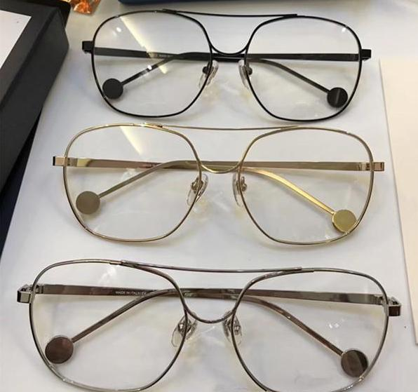 Luxury-Popular 1116 Glasses Fashion Men Women Designer Square Retro Style Full Frame High Quality Black Gold Silver Free Come With Case