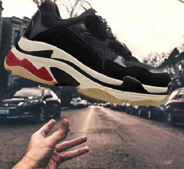 Paris 2020 Crystal Bottom Triple-S casual shoes Dad Shoes Platform Triple S Sneakers for Men Women Vintage Kanye Old Grandpa Trainer