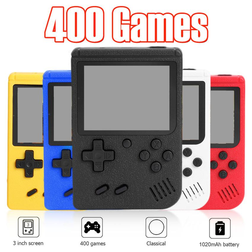Handheld Game Players 400-in-1 Games Mini Portable Retro Video Game Console Support TV-Out AVCable 8 Bit FC Games Built-in 3.0 Inch Screen